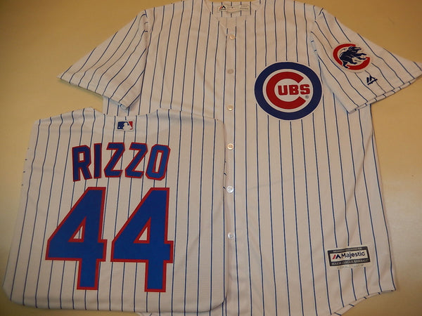 Chicago Cubs ANTHONY RIZZO Sewn Baseball Jersey WHITE P/S