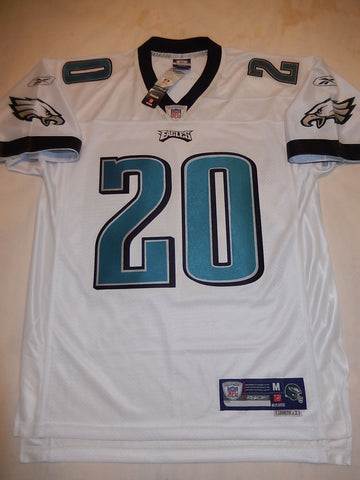 Reebok Philadelphia Eagles BRIAN DAWKINS Sewn Football Jersey WHITE