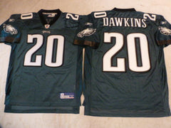 Reebok Philadelphia Eagles BRIAN DAWKINS Sewn Football Jersey GREEN