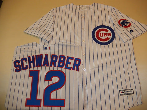 Chicago Cubs KYLE SCHWARBER Sewn Baseball Jersey WHITE P/S