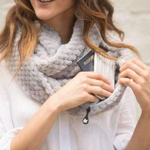 [2 SCARFS] SHOLDIT Convertible Cozy Infinity Scarf-Scarves-Chic Zen