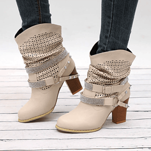 Autumn Hollow Ankle Boots-Boots Collection-Chic Zen
