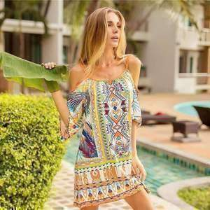 Bohemian Tropical Short Dresses-Dresses-Chic Zen