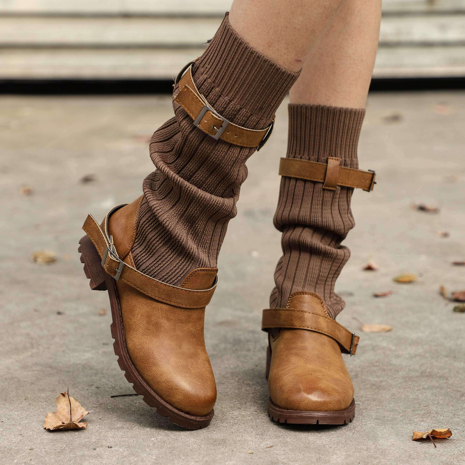 Cabin Sweater Boots-Boots Collection-Chic Zen