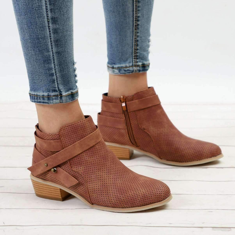 Casual Ankle Boots-Boots Collection-Chic Zen