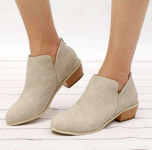 Chunky Heel Boots-Boots Collection-Chic Zen