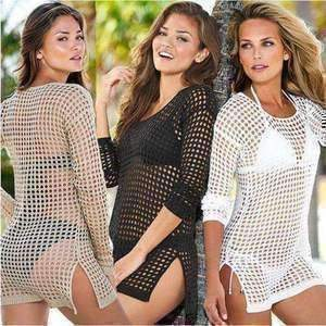 Crocheted Bikini Cover Up-Tops-Chic Zen