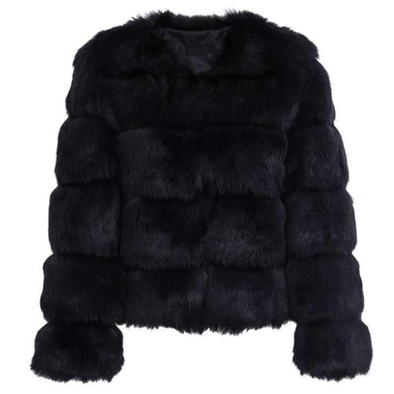 Fluffy Faux Fur Coat-Jacket-Chic Zen