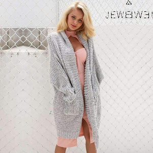 Knitted Long Cardigan Sweater-Jacket-Chic Zen