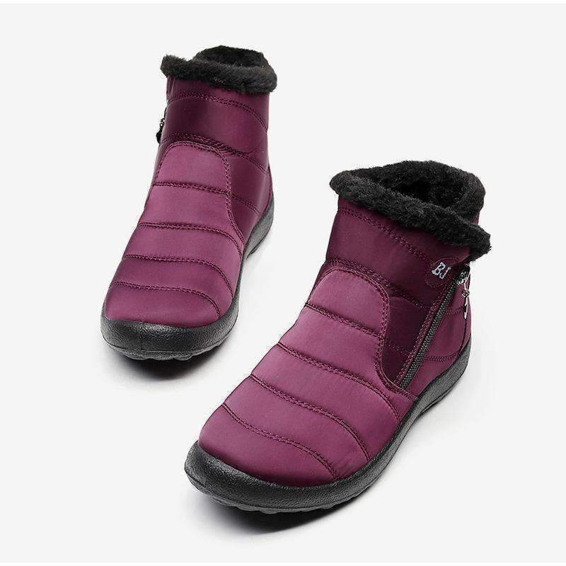 Soft Waterproof Zipper Snow Boots [1 PAIRS]-Boots Collection-Chic Zen