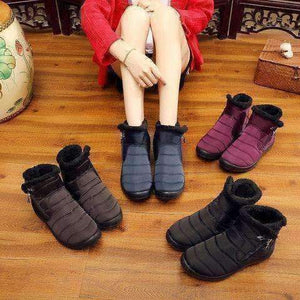 Soft Waterproof Zipper Snow Boots-Boots Collection-Chic Zen
