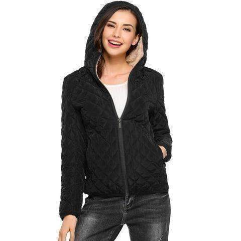 Womens Winter Hooded Jacket-Parkas-Chic Zen