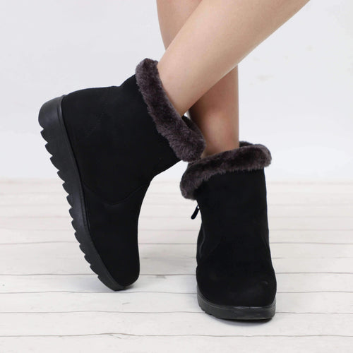 Chic Zen - Boots Collection; Zipper Fur Snow Boots