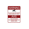 Warning Security Surveillance Signs Metal Galvanized (5.5 X 8.5) inch (14 X 21.5)mm