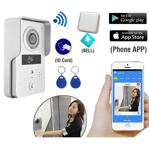Metal Wi-Fi Video Doorphone Support ID Card Acces