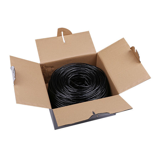 1000-FT Outdoor CAT6 Network Cable Solid 23AWG (75 degree)