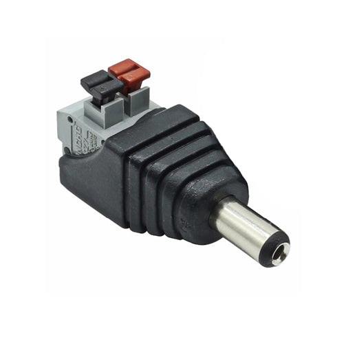 CCTV Male DC Power Jack Plug to Spring Terminal Quick Connector