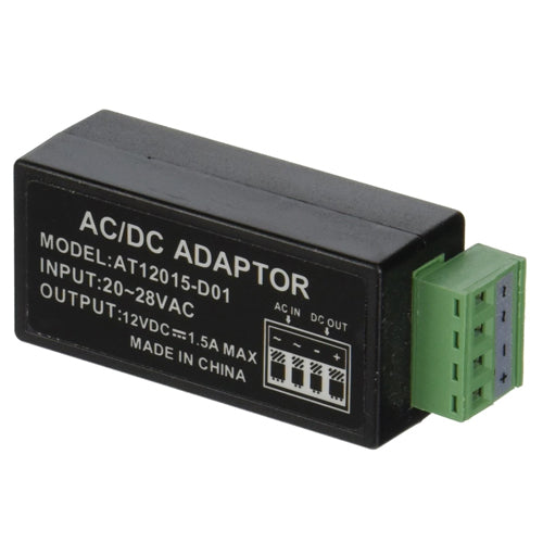 AC 24V to DC 12V Power Adapter Converter Balun for Security