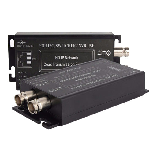 POE IP Coax Transmission Extender (Pair) for IPC, Switcher/Network