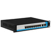 10-Port 10/100M 8+2 POE Switch 15.4W,2 fixed VLAN,long distance
