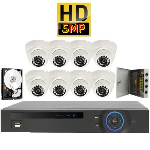 Kit 8 - HD CVI 4MP - CVR Pentabrid Full HD 8 Port System Kit