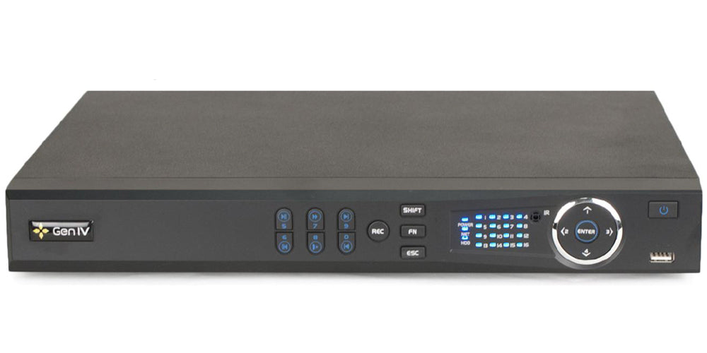 16-CH 2U NVR 4K up to 8 SATA HDD with 16-POE and up to 12MP IP Cameras