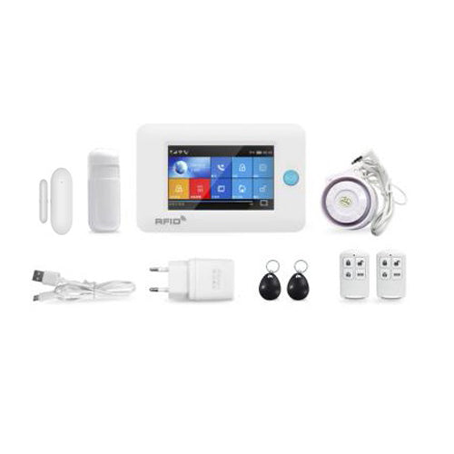 Smart Alarm System - 3G/GPRS + WiFi Alarm System (PIR Detector, Wireless Door Sensor)