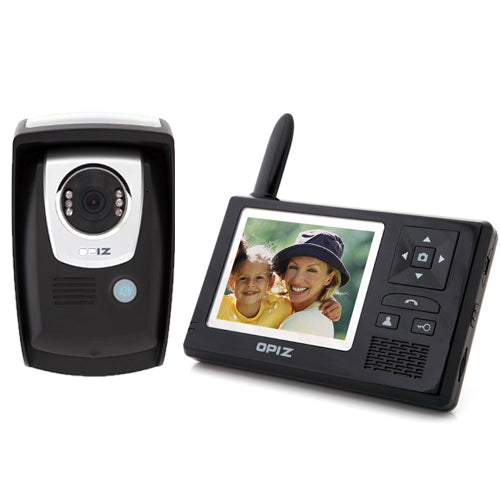 "420 TVL Wireless Video Door Phone w/3.5"" LCD 2GB SD"