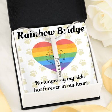 Rainbow Bridge Custom Necklace - Silver or Gold