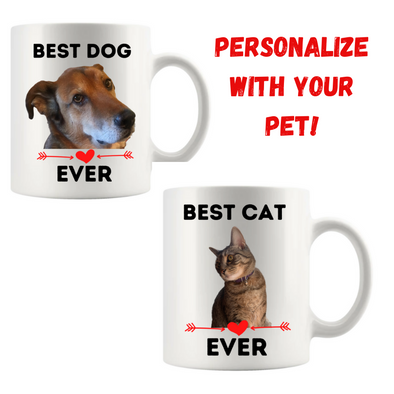 Best Cat or Dog Ever Mug - Personalized
