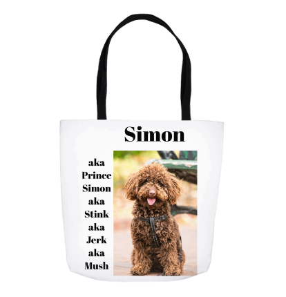 "Name That Pet 18"" Tote - Personalized"