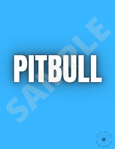 PITBULL 8.5 x 11 Digital Download Print *FREE*