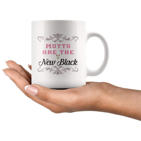 Mutts are the New Black Mug
