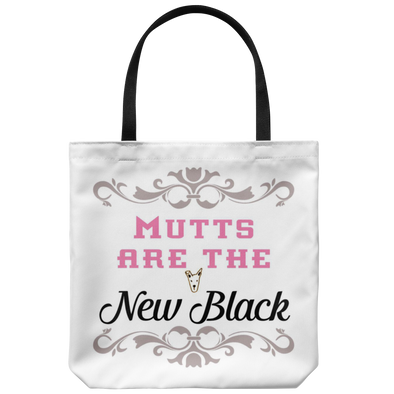 "Mutts are the New Black 18"" Tote"