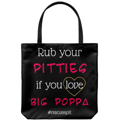 "Rub Your Pitties 18"" Tote"