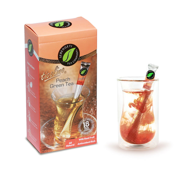 Serengeti Tea Peach Green Tea Sticks