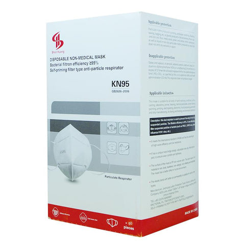 Image of Premium DISPOSABLE NON-MEDICAL MASK KN95 60 Ct. Box Immediate Shipping!!