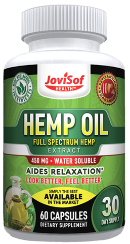 Image of Hemp Oil Capsules - Rich in Omega 3 and Omega 6 Fatty Acids