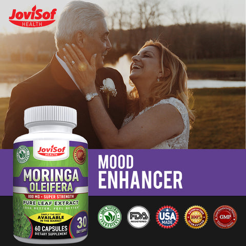 Image of NEW, IMPROVED, STRONGER Premium Moringa Oleifera 6000 MG Pure Leaf Extract Capsules