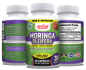 NEW, IMPROVED, STRONGER Premium Moringa Oleifera 6000 MG Pure Leaf Extract Capsules