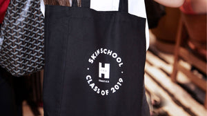 Skin school tote bag