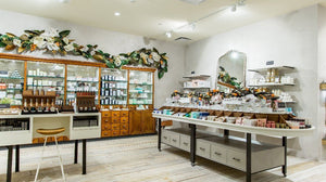 Anthropologie store beauty and wellness section