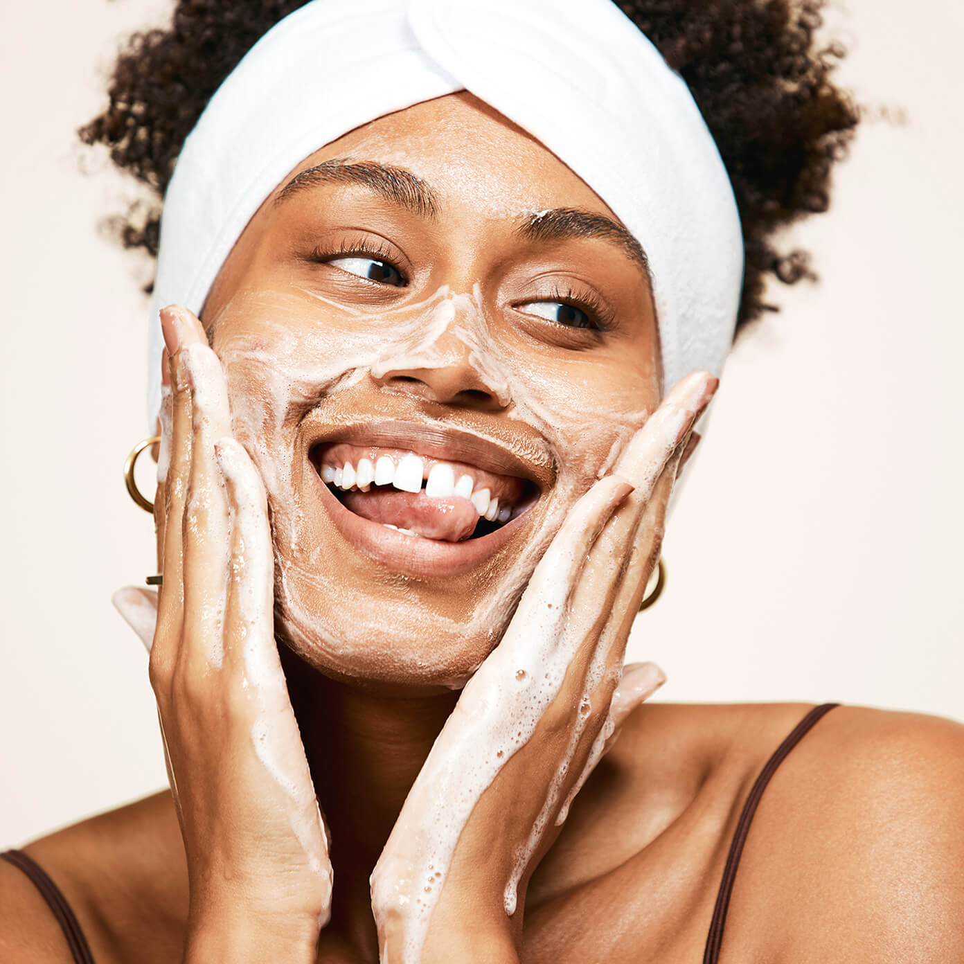Taj using Clear Collective Exfoliating Jelly Cleanser