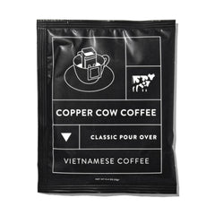 Copper cow coffee sample gift with purchase