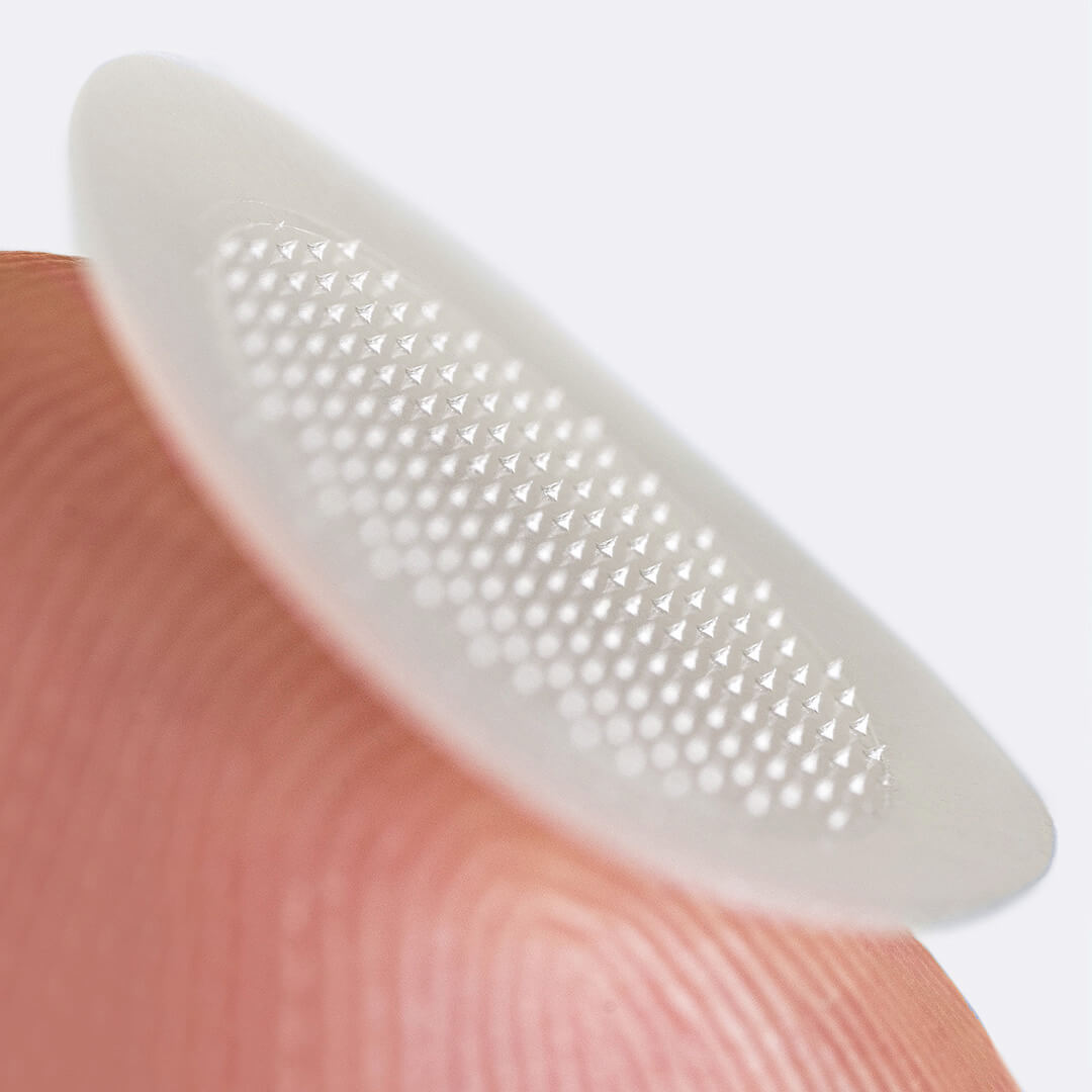 The Micropoint patches uses proprietary technology for a painless application.