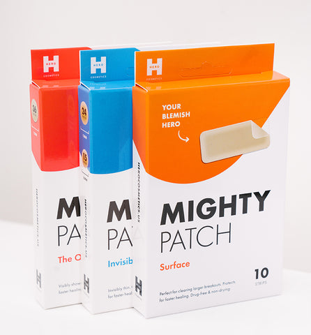 Mighty Patch Surface, Invisible+, Original boxes