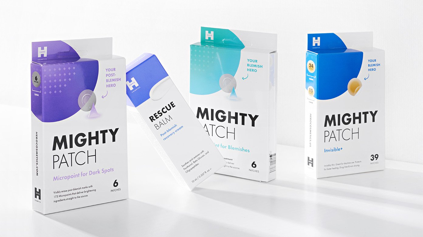 Mighty Patch Dark Spots, Rescue balm, micropoint for blemishes, invisible+