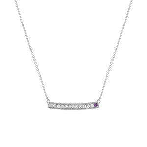 kait and toby large white gold gemstone necklace with february birthstone amethyst
