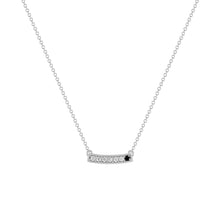 kait and toby medium size gemstone bar necklace with diamonds and april birthstone black diamond on thin white gold chain