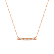 DIAMOND MAXI PENDANT | ROSE GOLD
